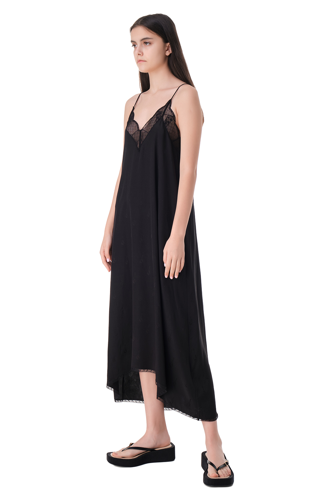 Платье-комбинация с кружевом ZADIG&VOLTAIRE ZVw11005