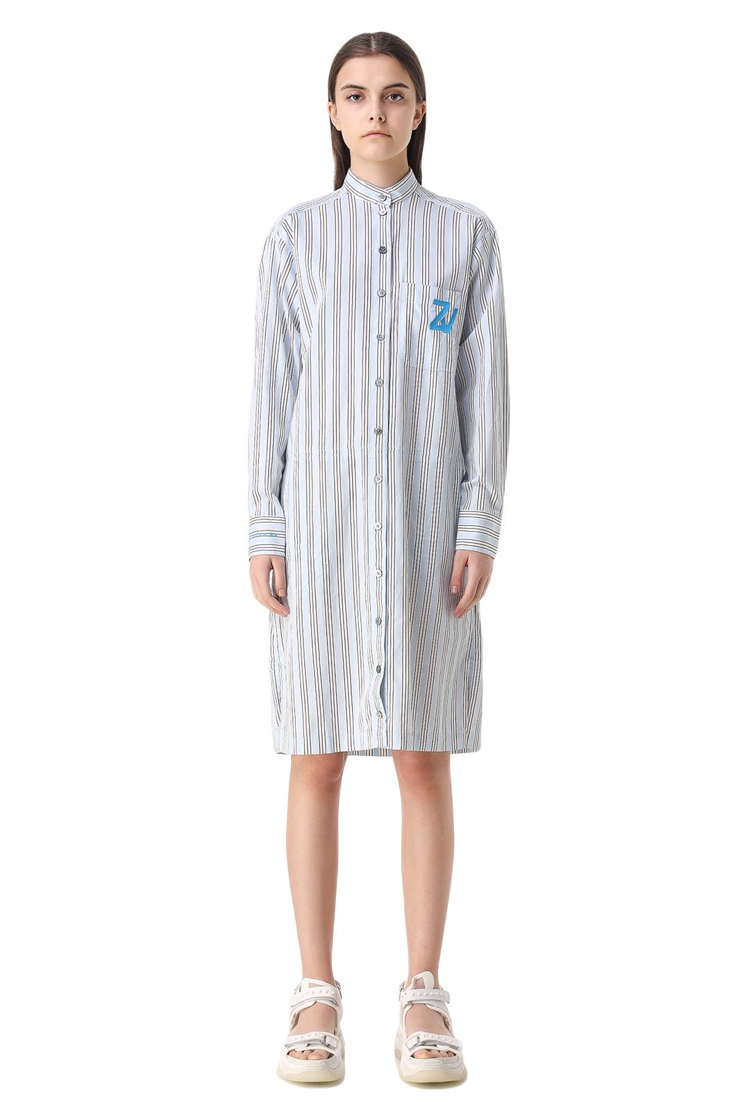 Платье-рубашка в полоску ZADIG&VOLTAIRE ZVw11009